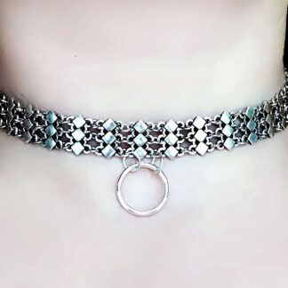 Submissive BDSM collar o ring choker necklace