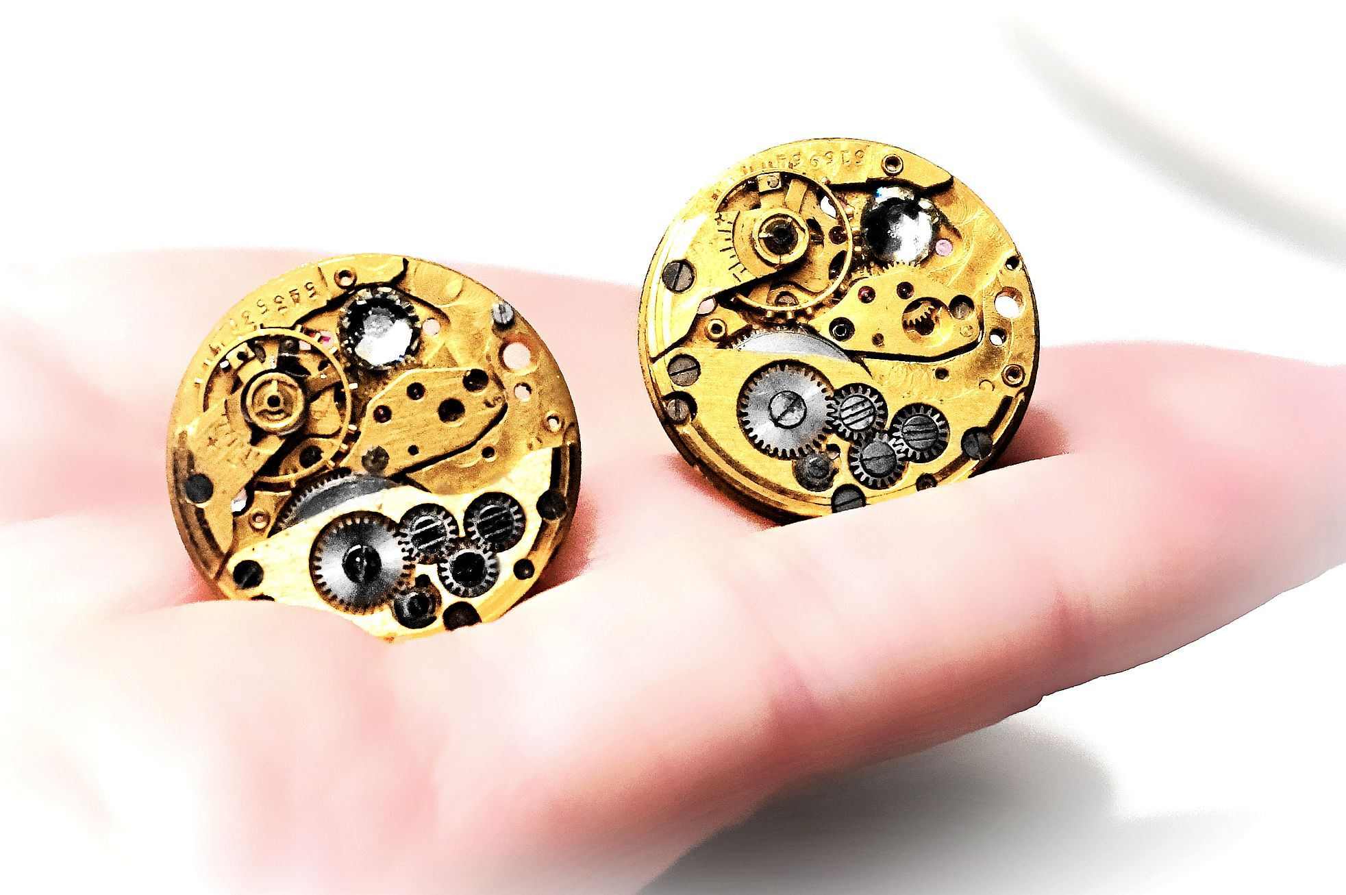 Steampunk BDSM mens jewelry cufflinks