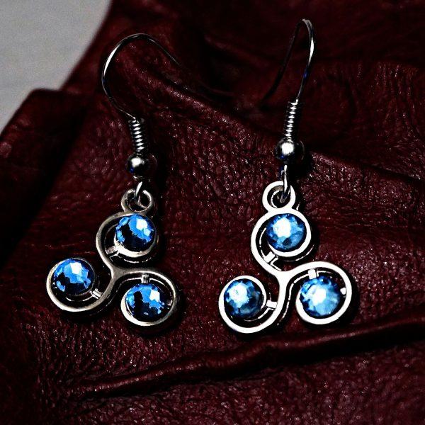 Triskele emblem earrings submissive slave