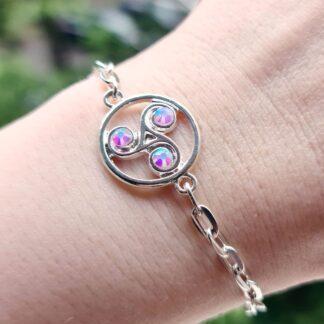 Steampunk BDSM jewelry symbol triskele metal chain bracelet