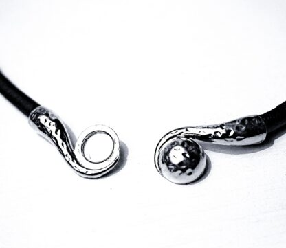 Submissive collar mens women black leather choker Steampunk BDSM