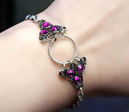 Submissive dominant o ring bracelet Steampunk BDSM symbol triskele