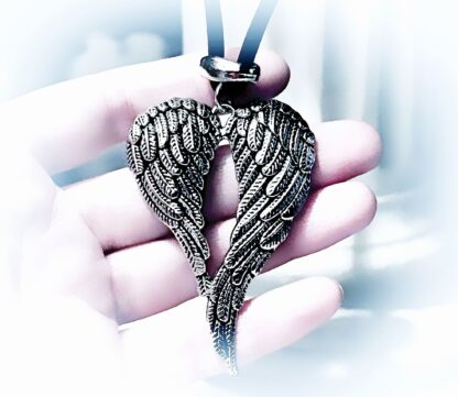Mens pendant wings BDSM dominant necklace angel demon satanic man