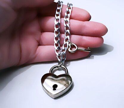 БДСМ сабмиссив украшения ошейник подвеска чокер сердце ключ