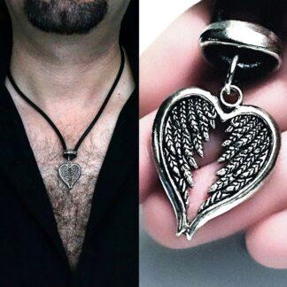 Подвеска мужская крылья ангел демон БДСМ доминант подарок мужчине мужу