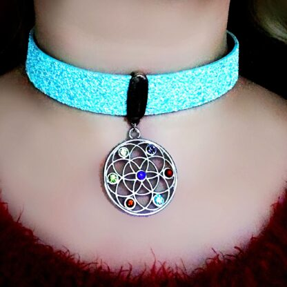Psychedelic trance jewelry rave wear festival outfit
