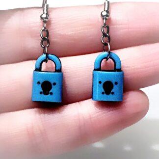 БДСМ серьги замок ключ подарок девушке