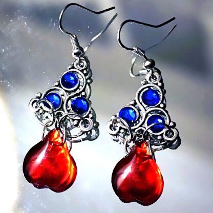 BDSM symbol triskele emblem earrings