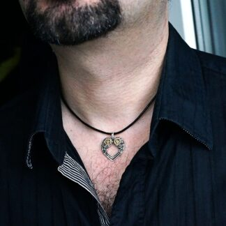 Mens pendant wings BDSM dominant necklace