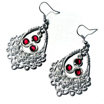 BDSM symbol triskele emblem earrings