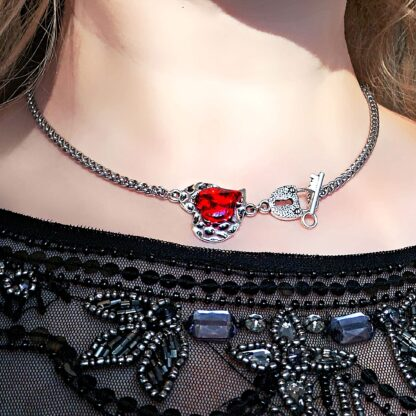 BDSM jewelry submissive lock collar necklace