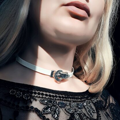BDSM jewelry submissive lock collar