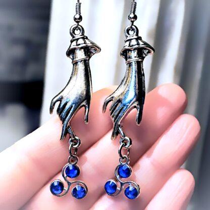 BDSM jewelry triskele emblem earrings Marrakesh