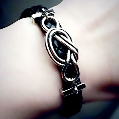 Submissive dominant Steampunk BDSM jewelry bracelet shibari