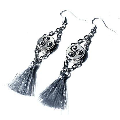 BDSM symbol triskele emblem earrings Marrakesh