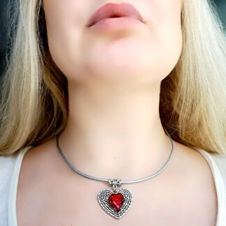 Submissive day collar BDSM necklace heart pendant