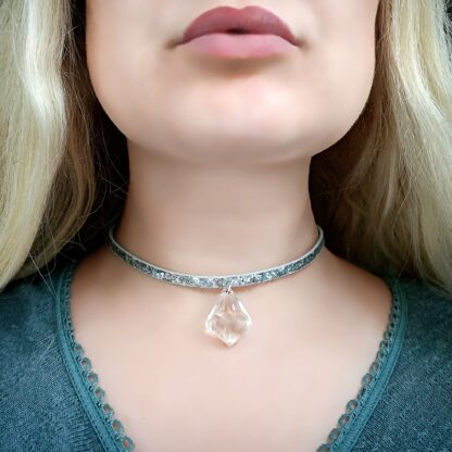 Psychedelic necklace dominant gift for submissive woman