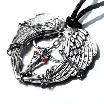 Подвеска мужская крылья демон БДСМ доминант подарок мужчине