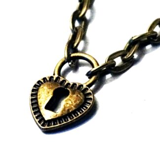 Submissive day collar heart necklace bdsm jewelry pendant dominant fetish slave steampunk