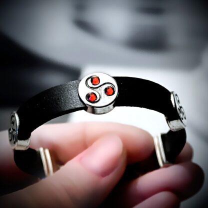 Submissive dominant bracelet BDSM symbol triskele triskelion