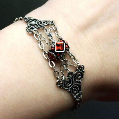 BDSM symbol triskele chain сharm Marrakesh slave gift