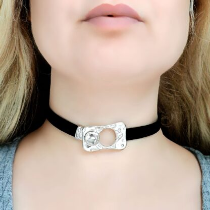 Submissive day collar leather choker Steampunk BDSM
