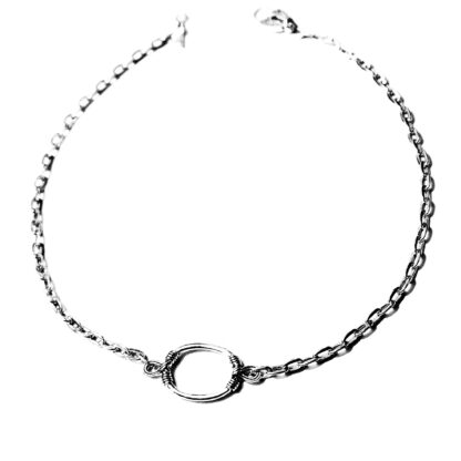 Submissive day collar metal rope necklace