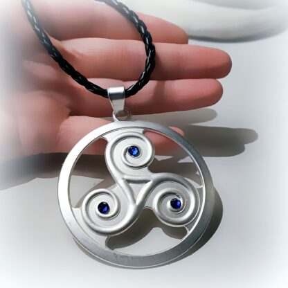 Submissive collar BDSM symbol triskele triskelion necklace