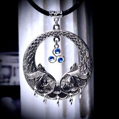 Steampunk BDSM symbol triskele necklace triskelion pendant
