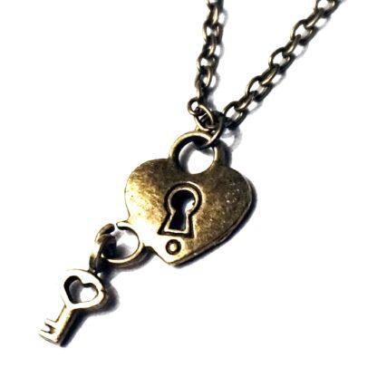 BDSM jewelry dominant slave fetish heart pendant