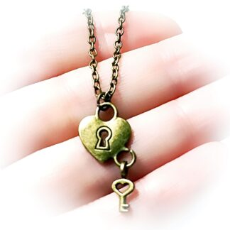 BDSM jewelry dominant slave fetish heart pendant