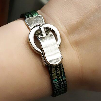 БДСМ украшения стимпанк браслет женский кожаный на замке