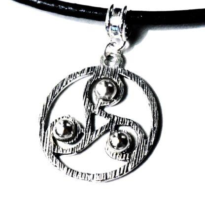Submissive collar BDSM symbol triskele triskelion necklace