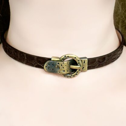 Submissive collar lock necklace Steampunk BDSM jewelry