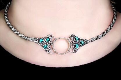 Steampunk BDSM jewelry submissive day collar triskele