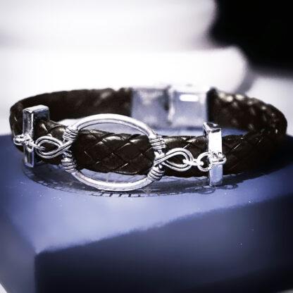 Submissive dominant Steampunk BDSM jewelry bracelet shibari