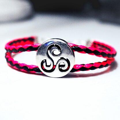 Steampunk BDSM jewelry symbol triskele charm bracelet