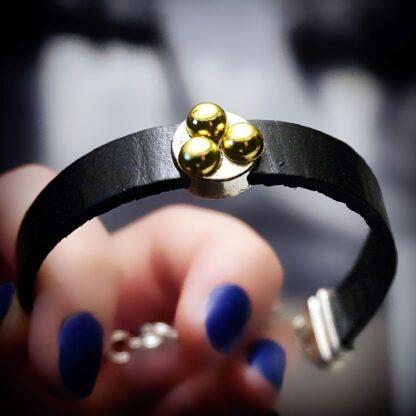 Submissive dominant Steampunk BDSM jewelry bracelet triskele