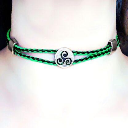 Triskele symbol triskelion psychedelic charm necklace dominant fetish slave