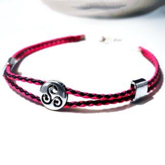 Triskele bdsm symbol triskelion psychedelic charm necklace dominant gift for subs