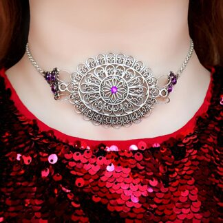 Steampunk BDSM jewelry submissive day collar Marrakesh choker