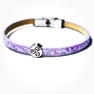 Steampunk BDSM jewelry leather bracelet symbol triskele charm triskelion cuff