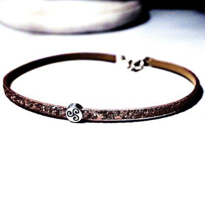 Стимпанк БДСМ украшения кожаный чокер шарм трискель символ