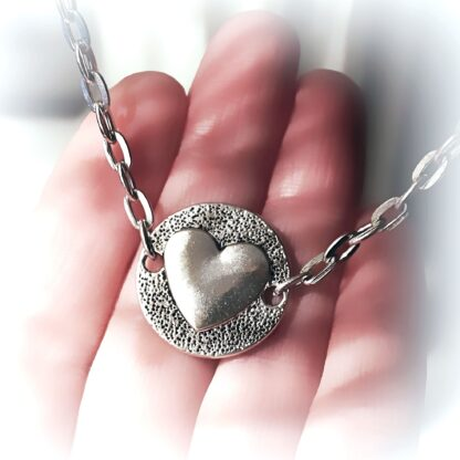 Submissive day collar heart chain necklace key lock pendant