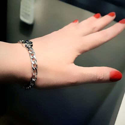 Triskele metal chain bracelet submissive dominant mistress slave