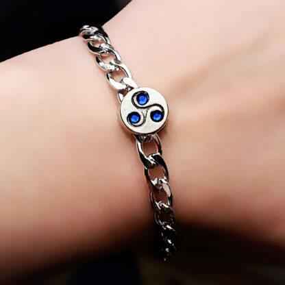 Triskele metal chain bracelet submissive dominant mistress slave