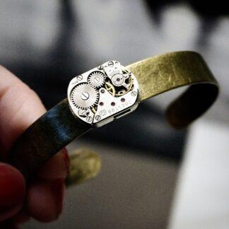 Steampunk BDSM jewelry dominant mistress bracelet submissive cuff