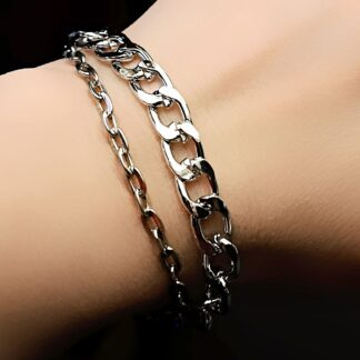 Steampunk BDSM jewelry chain bracelet submissive dominant mistress