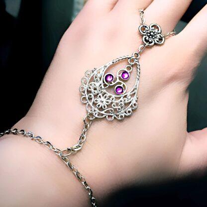Steampunk BDSM jewelry submissive dominatrix bracelet symbol triskele chain сharm