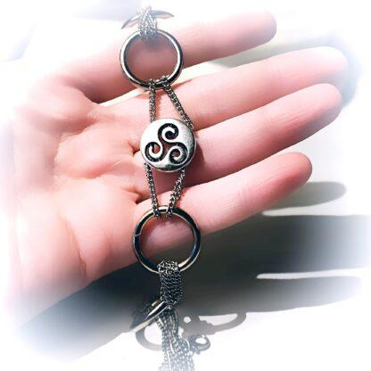 Steampunk BDSM symbol triskele day collar metal necklace